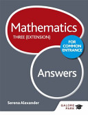 Mathematics for Common Entrance Three (Extension) Answers