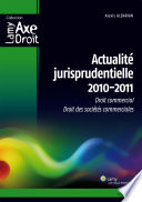 Actualité jurisprudentielle 2010-2011