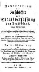 Repertorium der Geschichte und Staatsverfassung von Teutschland