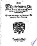 Erinnerung von der Calvinisten Art und Feindseligkeit gegen dem Römischen Reich ...
