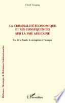 La criminalité économique et ses conséquences sur la PME africaine