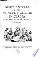 Nuova raccolta delle monete e zecche d Italia di Guid Antonio Zanetti  Tomo 1    5