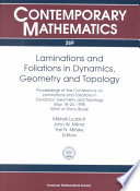 Laminations and Foliations in Dynamics  Geometry and Topology
