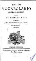 Nuovo vocabolario italiano tedesco neues deutsch itali  nisches w  rterbuch