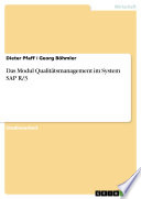 Das Modul Qualitätsmanagement im System SAP R/3