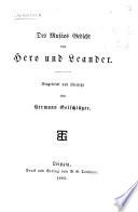 Des Musäos Gedicht von Hero und Leander