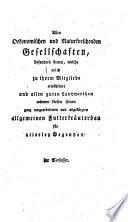 Prodromus oder Vorläufer meiner monathlichen praktisch-ökonomischen Encyklopädie