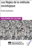 Les R  gles de la m  thode sociologique d   mile Durkheim