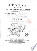 Storia della letteratura italiana del cavaliere abate Girolamo Tiraboschi     Tomo 1    10