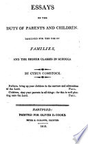 Essays on the duty of parents and children