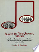 Music in New Jersey  1655 1860