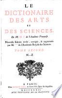 Le Dictionaire Des Arts Et Des Sciences