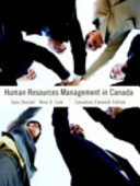 Human Resources Management in Canada 11th