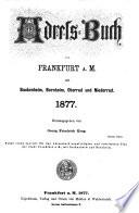 Adressbuch von Frankfurt am Main mit Bockenheim, Bornheim, Oberrad und Niederrad