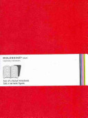 Moleskine Ruled Volant Notebook  Red X large