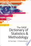 The SAGE Dictionary of Statistics   Methodology