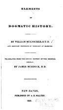 download ebook elements of dogmatic history pdf epub