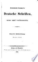 Deutsche Schriften, neue und verb