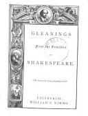 Gleanings from the Comedies of Shakespeare