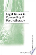 Legal Issues in Counselling   Psychotherapy