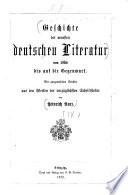 Geschichte der deutschen Literatur ...