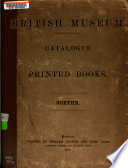Catalogue of Printed Books