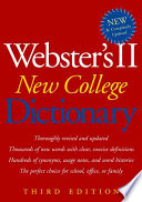 Webster s II New College Dictionary