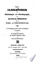 Neue Jahrb  cher f  r Philologie und P  dagogik