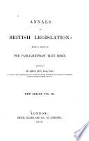 Annals of British Legislation
