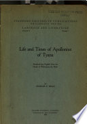 Life and Times of Apollonius of Tyana