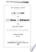 The Works of William Shakspeare  King Henry IV  part 1   King Henry IV  part 2   Henry V