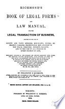 Book of Legal Forms and Law Manual for the Legal Transaction of Business