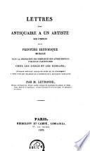 Lettres d'un antiquaire à un artiste