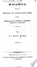 Gutachten über die Wahrung der gutsherrlichen Rechte bei der Einführung und dem Vollzuge des Hypotheken-Gesetzes vom 1. Juni 1822