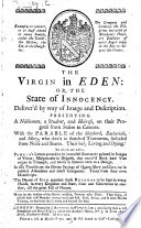 The Virgin in Eden  Or  The State of Innocency