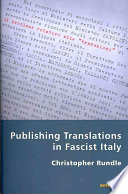 Publishing Translations in Fascist Italy