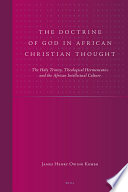 The Doctrine of God in African Christian Thought