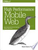High Performance Mobile Web