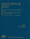 RIAO/OPTILAS 2007 : of optics, mainly in latin-american and iberic...