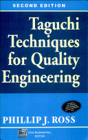 Taguchi Techniques For Quality Engg 2 E