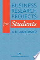 Business Research Projects For Students : towards the end of a summer term....