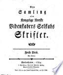 Nye samling af det Kongelige Norske Videnskabers Selskabs skrifter