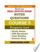 MiniCram Real Estate Exam Course 5
