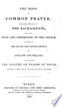 The Book of Common Prayer  Etc
