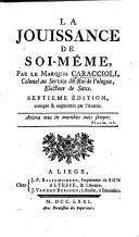 Book La Jouissance de soi-même ... Septième edition, corrigée & augmentée par l'auteur