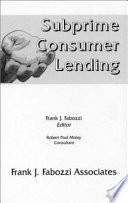 Subprime Consumer Lending