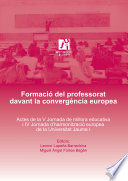 Formació del professorat davant la convergència europea