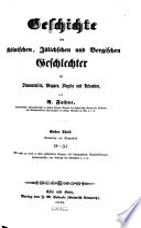 Geschichte der kölnischen, jülichschen und bergischen Geschlechter in Stammtafeln, Wappen, Siegeln und Urkunden
