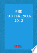 PhD Konferencia 2013