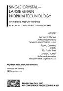 Single Crystal large Grain Niobium Technology